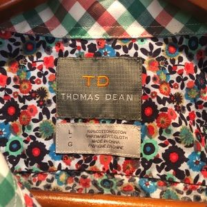 Thomas Dean Floral Button Down.